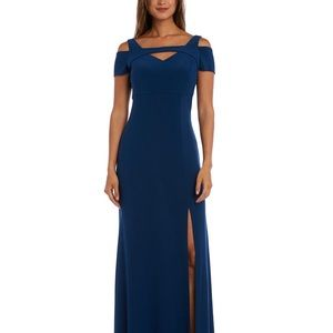 Cold Shoulder Evening Dress